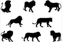 шаблон (люди, животные, птицы и ...)