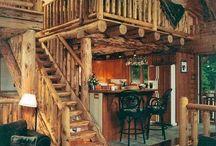 fa házak