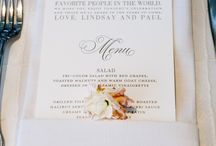 Menu  and Table Card ideas