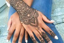 Henna tetoválás