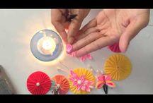 Kanzashi Ribbon Flowers