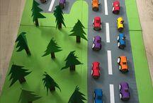 lasten askarteluja autot ym.