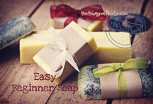 homemade soap & bath products