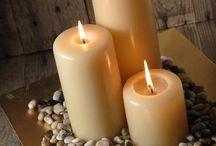 Receber: Arranjos com velas
