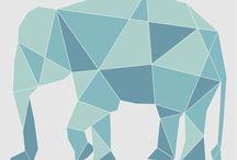 Lamina animales Geometricos