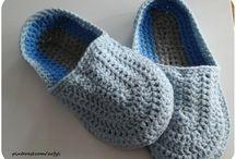 °Männer° / Männer Herren Bekleidung  crochet slippers men Männer Hausschuhe häkeln тапочки мужские крючком