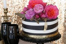 Girls luncheon / Pink, gold, blck and whire
