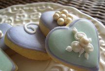 Mini cookies corações - Heart minicookies