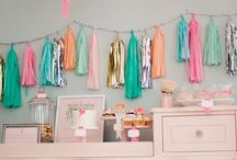 pretty pastel high tea / Courtney's hens day inspiration- made the board secret so she doesn't see!