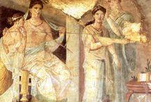фрески, скульптуры