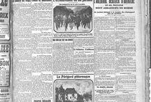 """Unes des journaux - 14/18 / A l'occasion de l'exposition """"Trajectoires 14/18"""" présentée aux Archives départementales de la Haute-Vienne jusqu'au 15 février 2017, découvrez les unes des journaux locaux imprimés entre 1914 et 1919.  Plus d'archives sur le compte Instagram : @hautevienne_dep"""