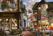 Obrazki - Ulice, malowane