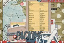 Scrapbook Layouts - Travel