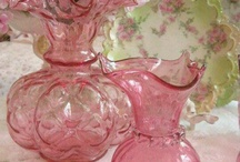 for the passion of pink glass / vintage pink glass as  well as newer designs are one of my passions. I have plates and candy dishes, wine glasses as well (which is wonderful with pink champagne).