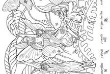 Fairy and etc. coloring pages