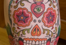 Madeline's first tattoo: sugar skull
