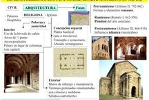 SPAIN - Asturian architecture / El arte asturiano o prerrománico asturiano es un estilo artístico englobado dentro del prerrománico y que se localiza en el Principado de Asturias adyacente al mar Cantábrico, libre de la ocupación musulmana, entre finales del siglo VIII y comienzos del X en que es absorbido por el arte románico venido de Francia.