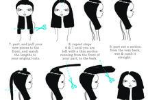 Klippe hår selv