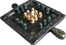 Damian Walker's Hnefatafl Collection / Hnefatafl games in the collection of Damian Walker, author of Hnefatafl: the Game of the Vikings.  I've made some of these myself, while others have been bought.  I love them all!