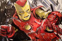 Marvel Heroes - Iron Man Art / Celebrating our favorite Marvel animation and comic art for Iron Man / Tony Stark.
