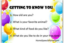 Speech Therapy Activities - September / Getting back in the swing of things after a relaxing summer and a crazy August.