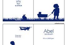 Siep & Saartje geboortekaartjes / Ontwerp je geboortekaartjes, of bewerk een van de vele voorbeeldkaartjes www.printsy.nl
