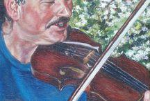Schilderijen en muziek