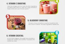 Smoothie recipes / Happy and healthy smoothie recipes to start my day with.