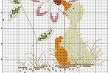 Point de Croix Canards - Oies