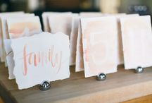 Details / all the little things that make a wedding personal, favors, invites, calligraphy...