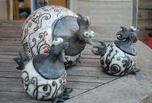 ceramique poules