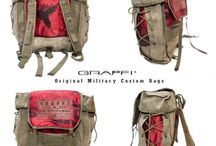 GRAFFI BAGS / The new and cutest collection of originals military custom bags and backpack by GRAFFI, Italian Clothing Brand