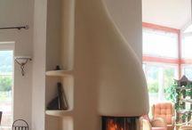 Fireplace / fireplace chimney flame kominek