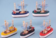 Fishing Boats / Shop our range of cute Fishing Boats as stock for your business, these interior design accessories will brighten up any home.