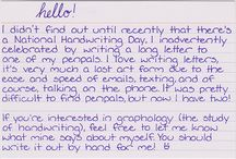 El Yazısı /  Handwriting