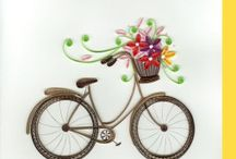bicyclette quilling