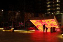 Almere at night / City mall Almere