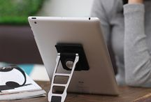 Transform Your Tablet / The 360° Tablet Kickstand utilizes Microsuction Technology to grip directly onto any tablet, instantly providing standing support. Easily remove and reuse this kickstand without leaving any sticky residue. The fully adjustable hinge allows a wide range of viewing angles, and the 8-directional swivel head provides 360 degrees of rotation to seamlessly transition from portrait to landscape viewing mode.