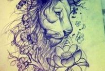 tatuaż lew