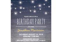 Partytjie uitnodigings