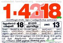 Tamil Daily Calendar April 2018