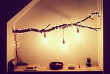 string lights branch