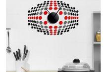 Idées pour la maison / Des horloges personnalisables qui se collent au mur