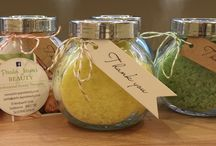 Scented Salts & Soaps / Natural scented salts and soaps