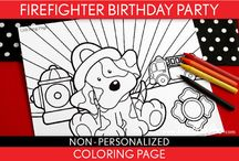 Firefighter Party Theme