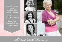 Invitations d'anniversaire