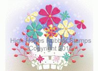 High Hopes Stamp Flowers / High Hopes Rubber Stamp Flowers