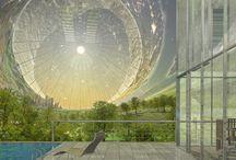 Space habitats interiors