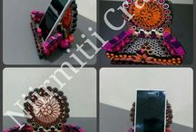 Quilled mobile stands / Hand made, Paper quilling,Mobile stands, multipurpose stands.