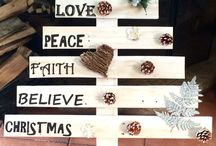 Pallet Wood Christmas Tree / Handmade, white washed, pallet wood Christmas trees for sale.  Tree with writing R350 Tree with writing and decorations R500  Inbox for details